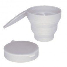Collapsible Silicone Cleaning Cup with cup holder - Clear