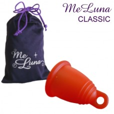 Meluna Menstrual Cup size S, Red with ring